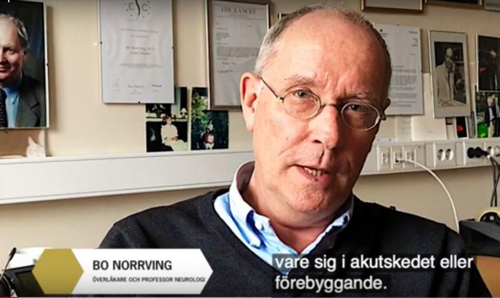 Professor Bo Norrving om behandling för att förebygga stroke